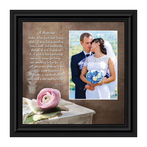 A Marriage, Christian Marriage Gift,  Personalized Picture Frame, 10X10 6322