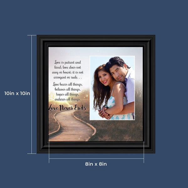 I Corinthians 13, Love Never Ends,  Picture Frames for Couples, 10x10 6360