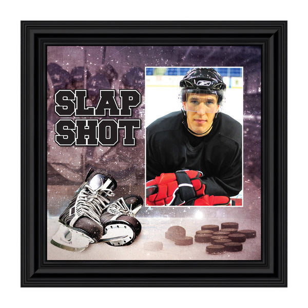 Hockey Picture Frame, Personalized Hockey Gifts for Kids and Adults, 10x10 6366