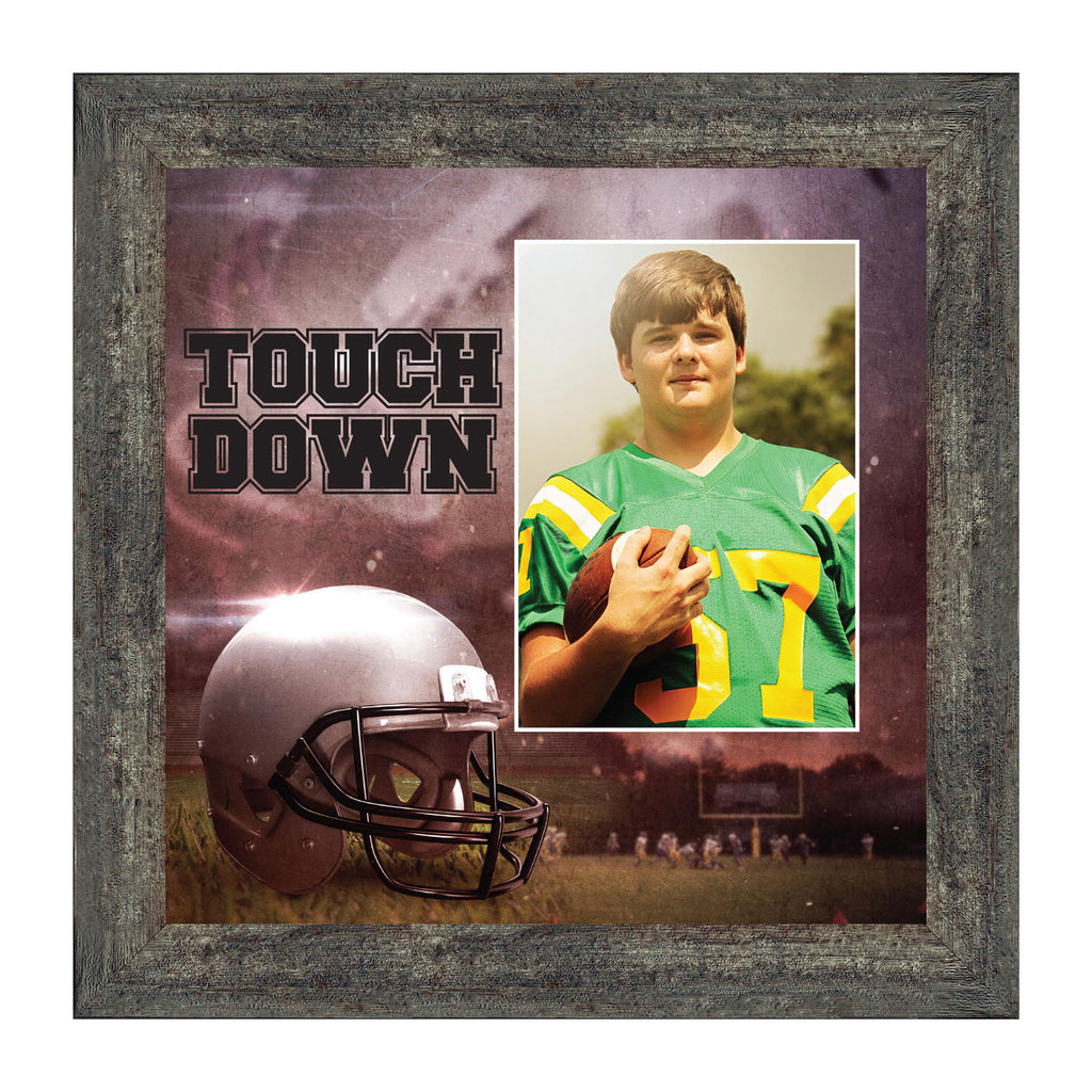 Personalized Football Frame, Football Gifts, 10x10 6369