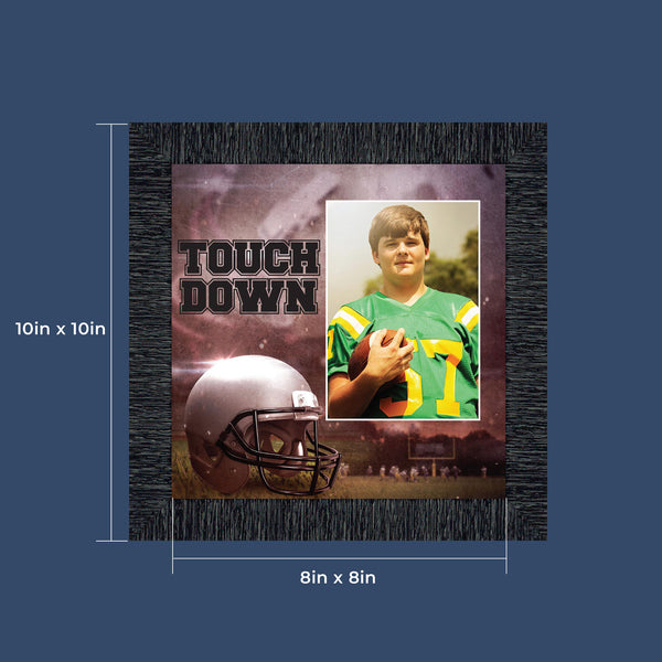 Football Player Photo Frame for Football Coach or Pee Wee Football, 10x10 6369
