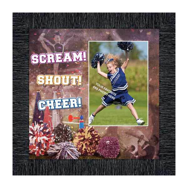 Cheer Leading Picture Frame, Cheerleader Gifts for Girls and Coaches, 10X10 6370