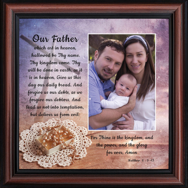 The Lord's Prayer, Our Father Prayer, Bible Verses Wall Decor, 10x10 6377
