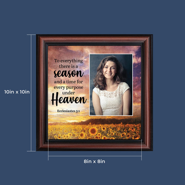 To Everything the is a Season, Ecclesiastes 3:1, Religious Memory Gift, Decorative Scripture Art, 10x10 6398