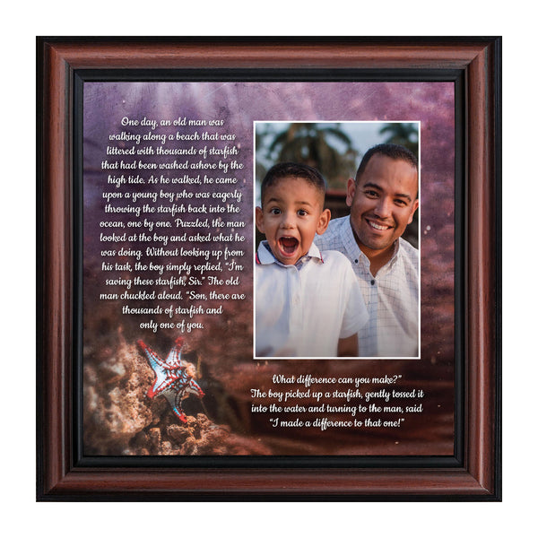 The Starfish Story, Legend of the Starfish, Thank You or Appreciation Gift for Your Pastor or Teacher, You Can Make a Difference Poem, 10x10 6399