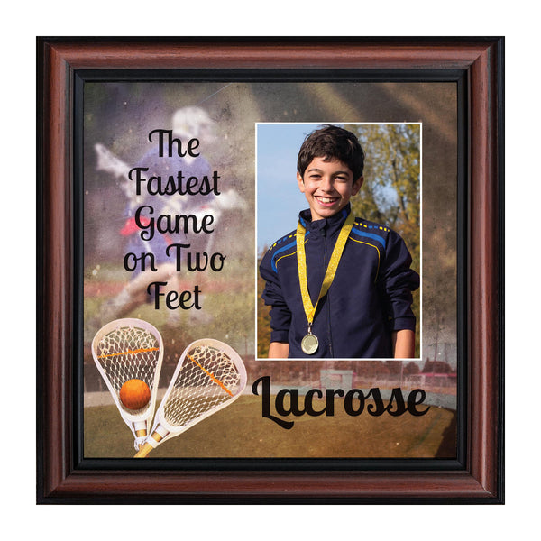 Lacrosse, Team Photo, Gift for Lacrosse Player or Coach, Sports Picture Frame, 10x10 6410