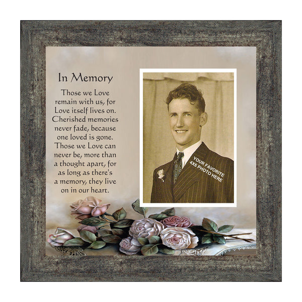 In Memory, In Memory of Loved One, Memories Personalized Picture Frame, 10x10 6532