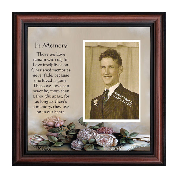 Picture Frame In Memory of a Loved One, Condolence or Sympathy Gift, 10x10 6532