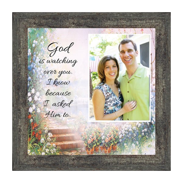 God is Watching Over, Prayer for a loved ones protection, Personalized Picture Frame 10x10 6588