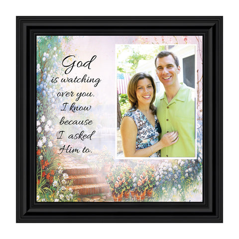 God is Watching Over, Prayer for a loved ones protection, Personalized Picture 10x10 6588
