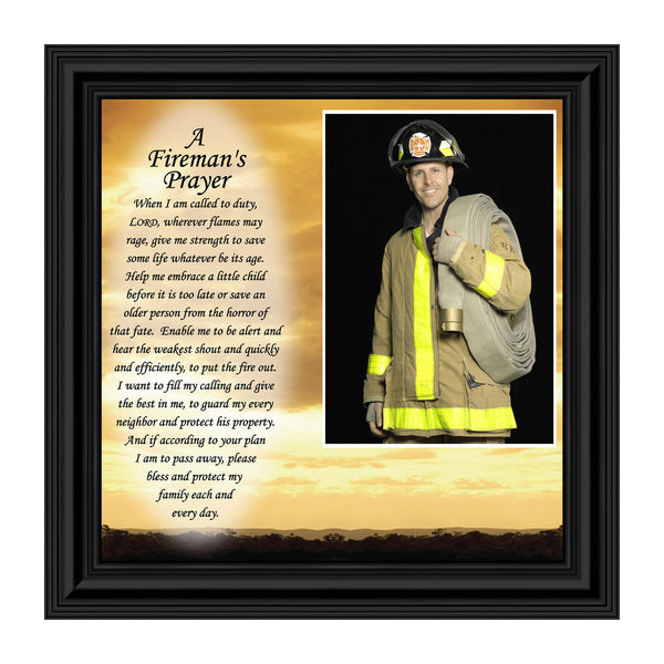Fireman, Personalized Picture Frame for Firefighter gifts, 10X10 6595