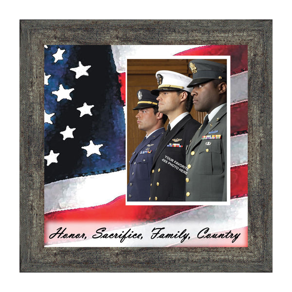 Freedom Calls, Personalized Military Picture Frame, 10X10 6598