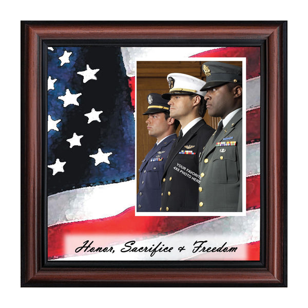 American Hero, Personalized Military Picture Frame, 10X10 6599