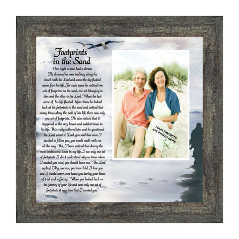 Footprints in the Sand, Religious Gift for loved one, Personalized Picture Frame 10X10 6703