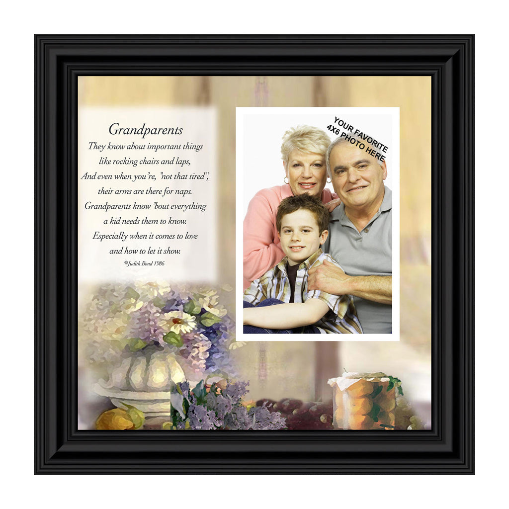 Grandparents, Personalized Frame Picture, Great Gift for Grandparents, 10X10 6705