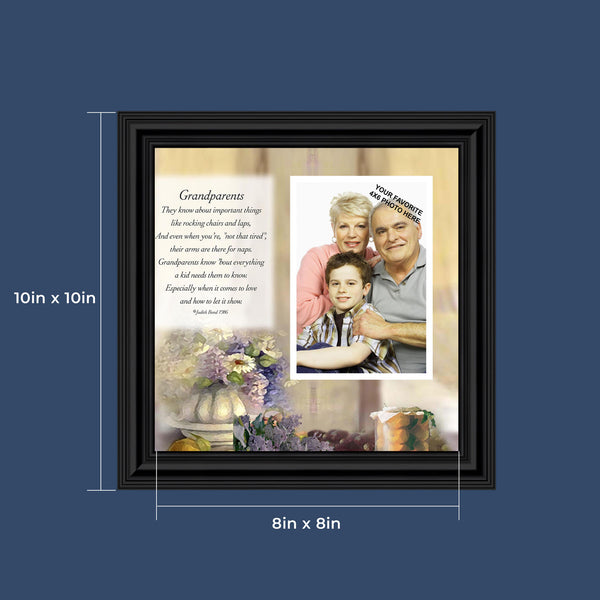 Grandparents,  Gift from Grandma or Grandpa, Personalized Picture Frame, 10X10 6705