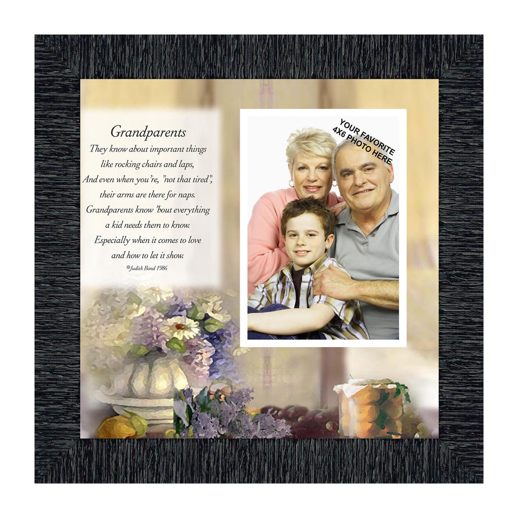 Grandparents,  Great Gift for Grandparents, Personalized Picture Frame, 10X10 6705