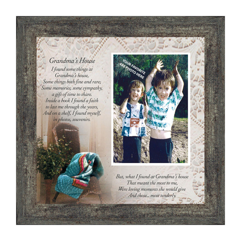 Grandmas House, Grandparent's Day Gift, Personalized Picture Frame from Grandchild, 10X10 6724