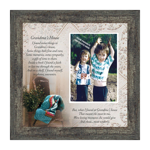 Grandmas House, Grandparent's Day gift, Personalized Picture Frame for Grandparents, 10X10 6724