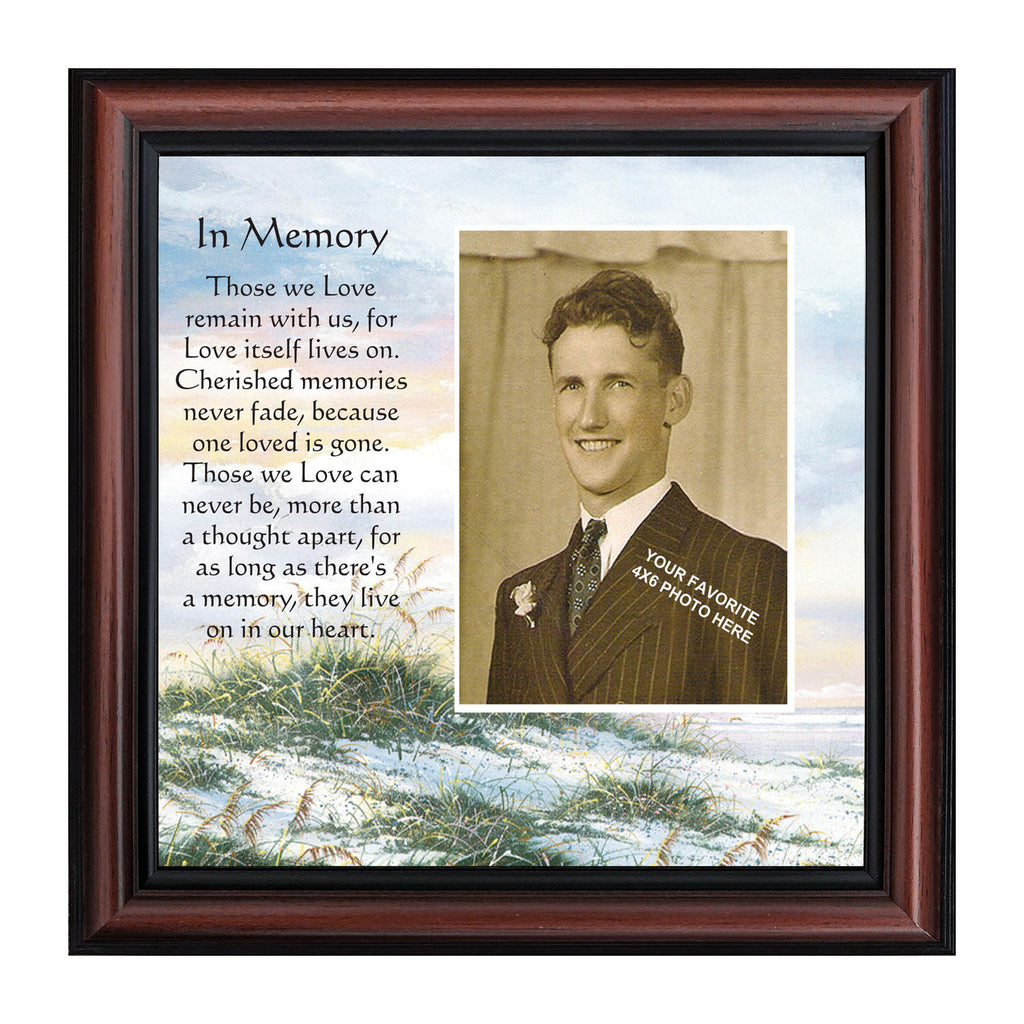 In memory in remembrance gifts memory personalized picture frame in memory in remembrance gifts memory picture frame 10x10 6732b jeuxipadfo Choice Image