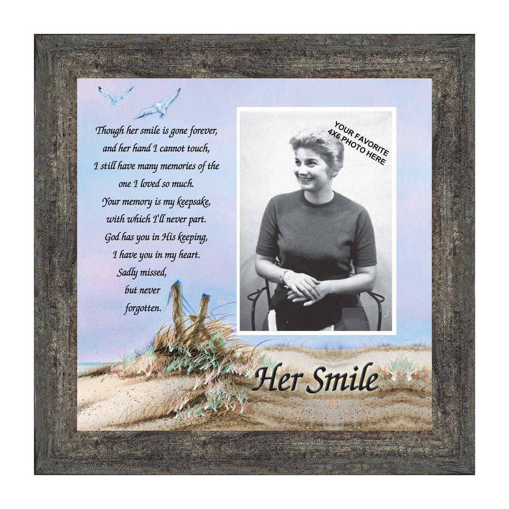 Her smile remembrance of mother in memory gifts personalized her smile remembrance of mother in memory gifts personalized picture frame 10x10 6756 jeuxipadfo Choice Image