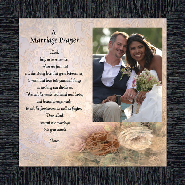 Prayer for you Marriage, Great Gift for Anniversary, Personalized Picture Frame, 10X10 6757