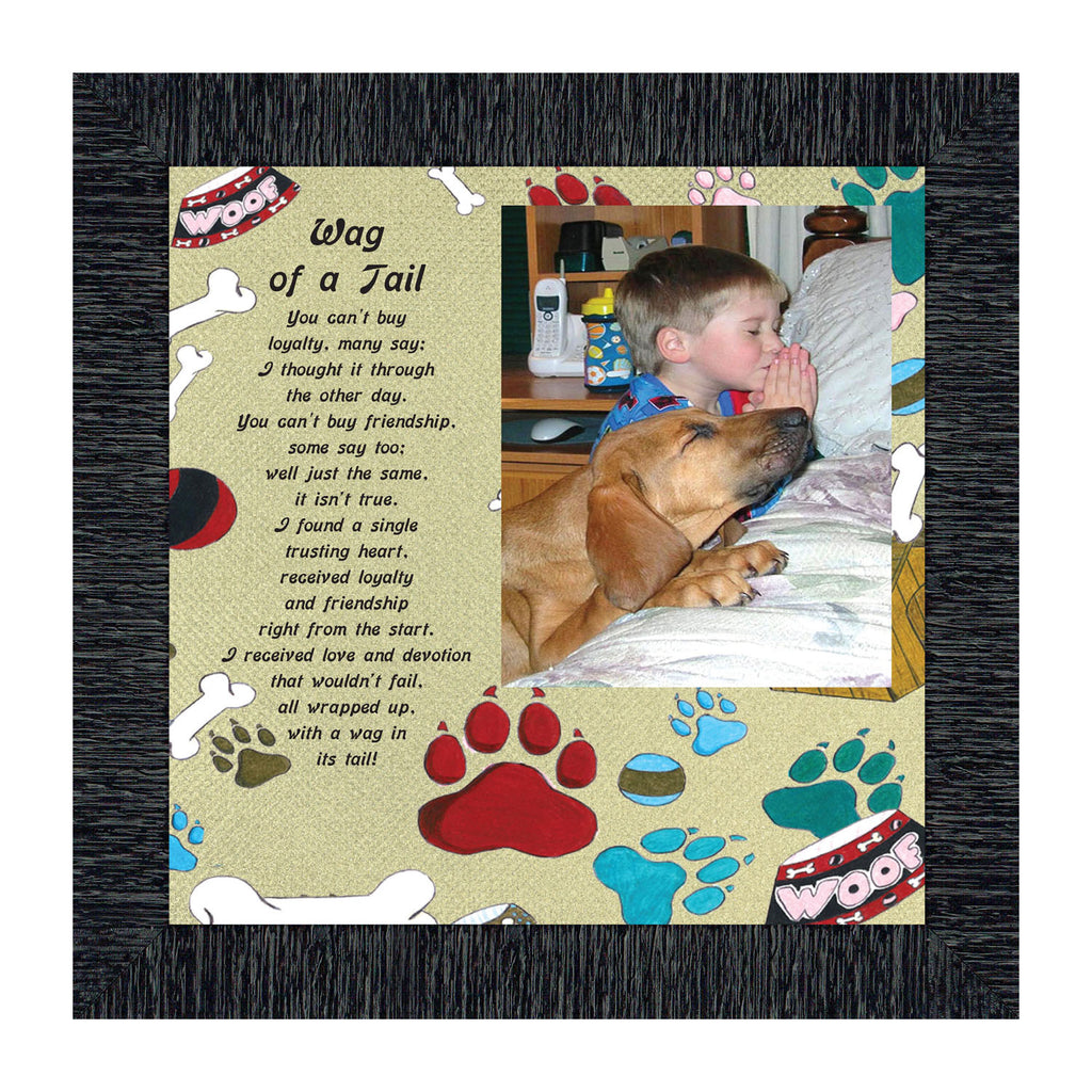 A Wag of a Tail, Personalize Photo Frame for the Family Pet Dog, 10X10 6764