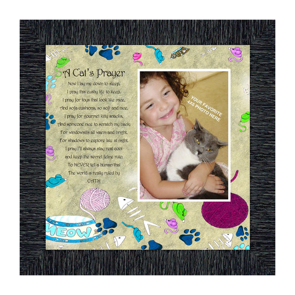 A Cats Prayer, Personalized Picture Frame for you with your Pet, 10X10 6765