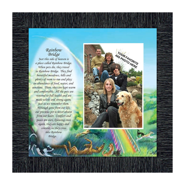 Rainbow Bridge, Sympathy for Pets who have Passed Away, Personalized Picture Frame, 10x10 6766