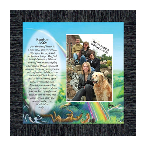 Rainbow Bridge, Warm thoughts about pets who have passed away, Personalized Picture 10x10 6766