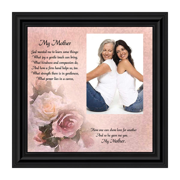 My Mother, Gift from Daughter for Mother, Personalized Picture Frame for Mom, 10X10 6767