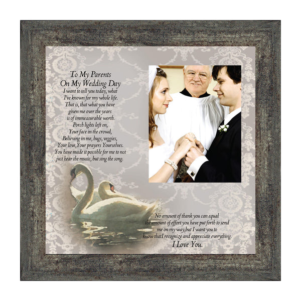 To My Parents on My Wedding Day, Personalized Gifts for Parents on our Wedding Day, 10x10 6777