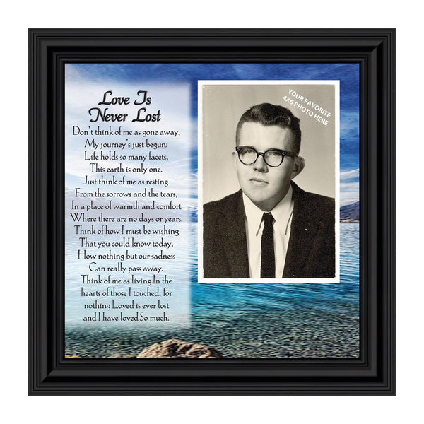 Love Is Never Lost, In Remembrance Gifts, Love You Always Plaque, Personalized Picture 10x10 6785