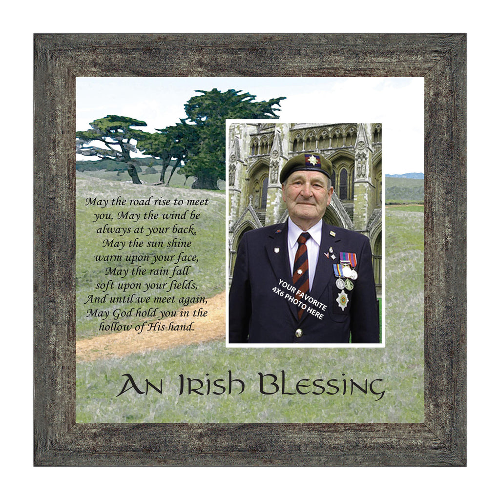 An Irish Blessing, Irish Blessing Personalized Picture, May the Road Rise to Meet You, 10x10 6786