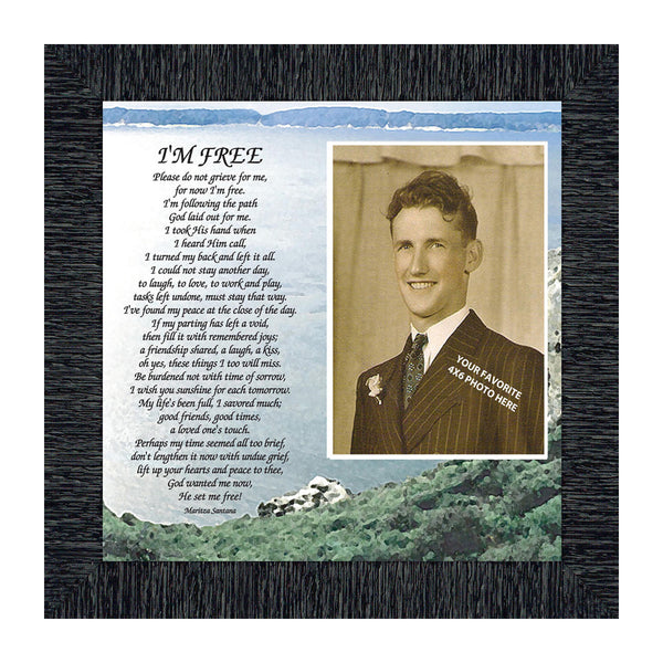 I'm Free, Love Ones In Heaven, Memory Photo Frame, 10x10 6789