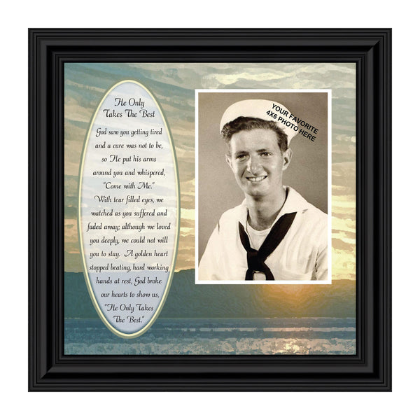 He Only Takes the Best, Religious Memory Gift, Personalized Picture Frame, 10x10 6790