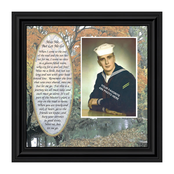 Miss Me But Let Me Go, Loved Ones In Heaven, In Remembrance Gifts, Personalized Picture Frame 10x10 6793