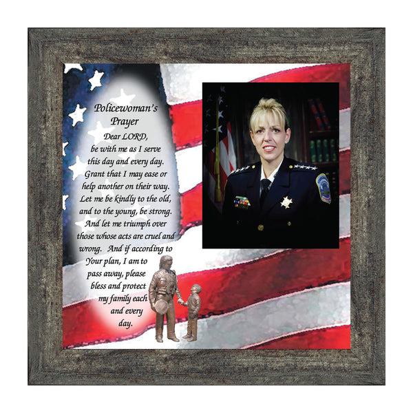 Police Woman's Prayer, Personalized Gifts for Woman Police Women, 10X10 6796