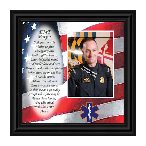 EMT Prayer, Emergency Medical Technician's Gift, Personalized Picture Frame , 10X10 6799