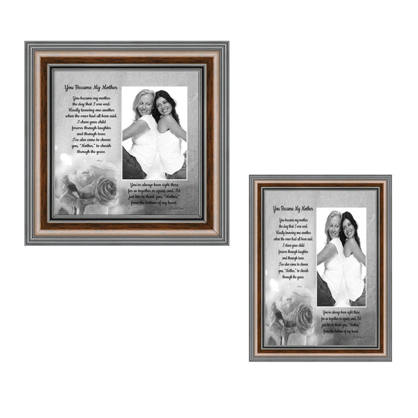 Picture Frame Set, 2 Piece Customizable Gallery Multi pack, 1-5x7, 1-8x8, for Tabletop or Wall Display