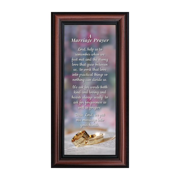 Marriage Prayer, Christian Marriage Gift, Frame Wedding Gift, 6x12 7301