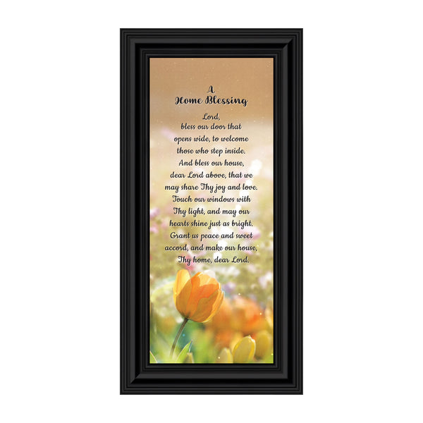 A Home Blessing Framed Poem for New Home Owners, God Bless This Home Decor, 6x12 7302