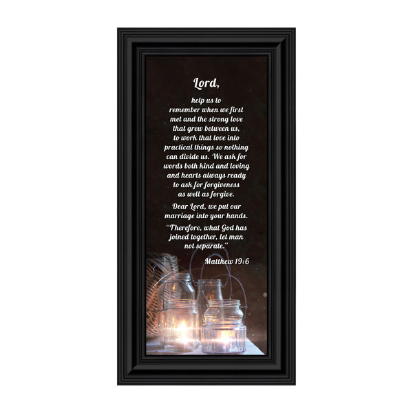 "Christian Wedding Gifts for Couple, Engagement Gift for Bride and Groom, Christian Bridal Shower Gift for Bride, Rustic Wedding Decor, ""A Marriage Prayer"" Picture Framed Poem, 7304"
