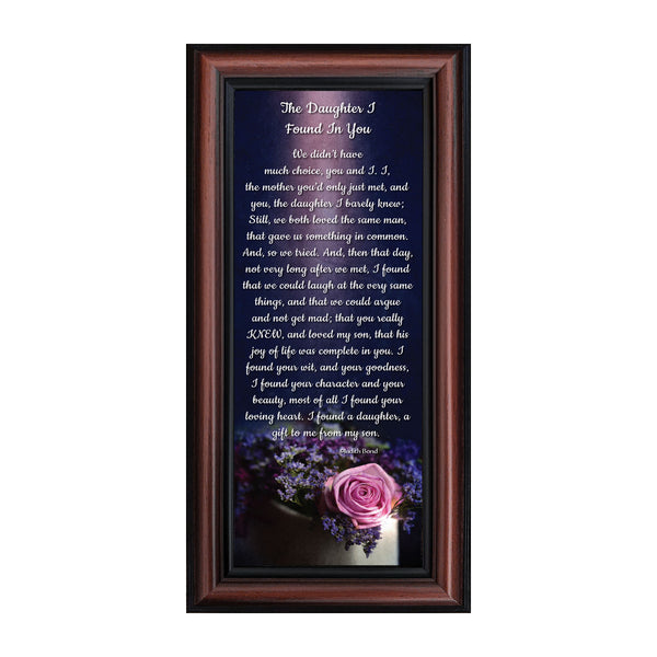 The Daughter I Found In You, Daughter In Law Gifts, Picture Frame 6x12 7308