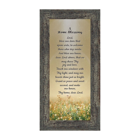 A Home Blessing, God Bless This Home Sign, Home Blessing Décor, 4x10, 7314