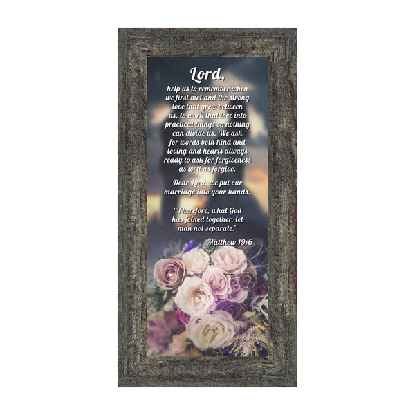 "Christian Wedding Gifts for Couple, Engagement Gift for Bride and Groom, Christian Bridal Shower Gift for Bride, Rustic Wedding Decor, ""A Marriage Prayer"" Picture Framed Poem, 7317"