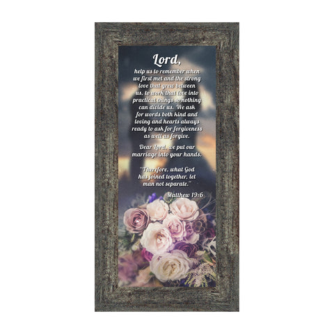 Marriage Prayer with Scripture, A Matthew Bible Verse, True Love Wedding Gift Picture Frame, 6x12 7317
