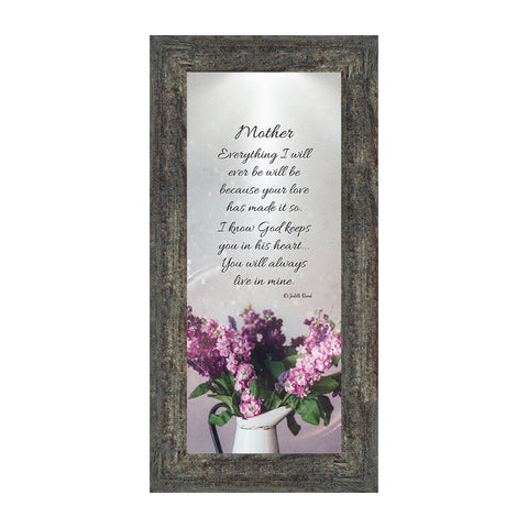 Mother, Gift from Daughter for Mom on Mother's Day, Picture Frame for Mom, 6x12 7326
