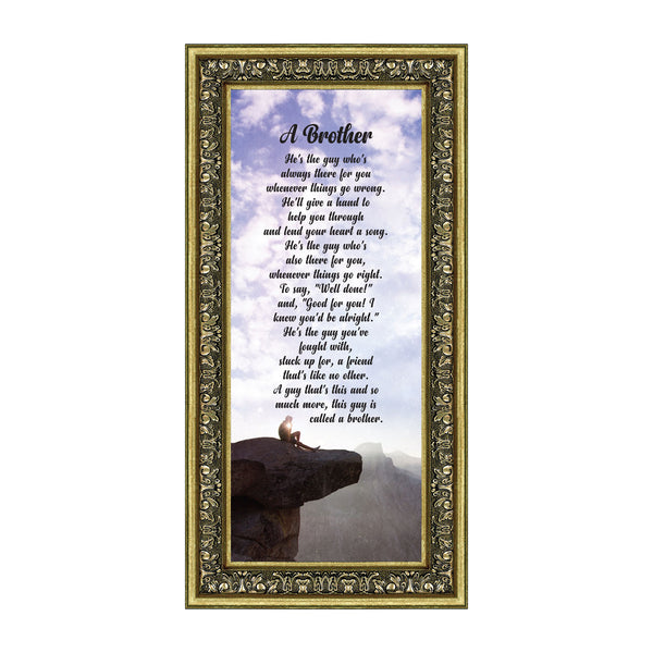 A Brother, Siblings Picture Frame, Brother and Sister Gifts, 6x12 7337