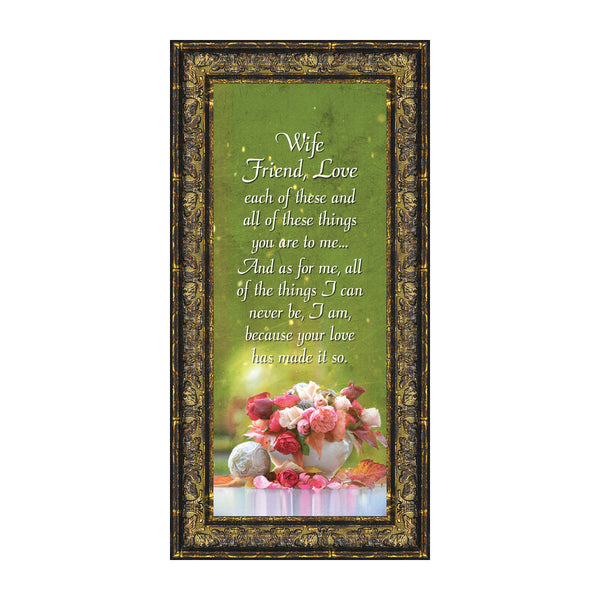 Wife Friend Love, Romantic Gift for Wife, Picture Frame, 6x12 7338